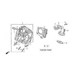 image: HEAD ASSY., CYLINDER see item 1