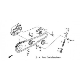 image: BOLT, CAM CHAIN GUIDE ROLLER see item 12