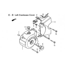image: COVER, L.CRANKCASE see item 1