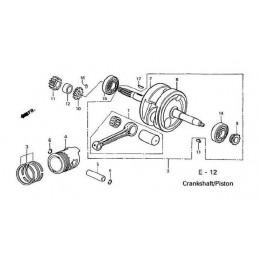 image: RING SET, PISTON (1.00) (TEIKOKU) see item 3