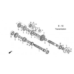 image: MAINSHAFT, TRANSMISSION (12T) (P) see item 1