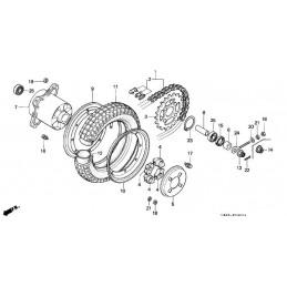 image: Honda Dax rearhub COLLAR,REAR WHEEL  item 6