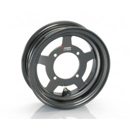 image: Kitaco 5 spoke black 8x2.5 tubeless wheel