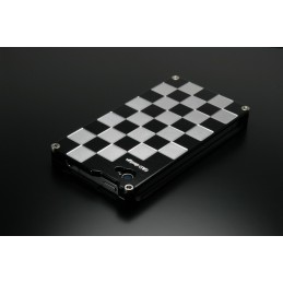 image: Iphone 4/4S cover chequered black and white