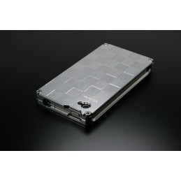 image: Iphone 4/4S cover chequered aluminum polished